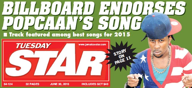 PressReader - The Star (Jamaica): 2015-06-30 - BILLBOARD ENDORSES