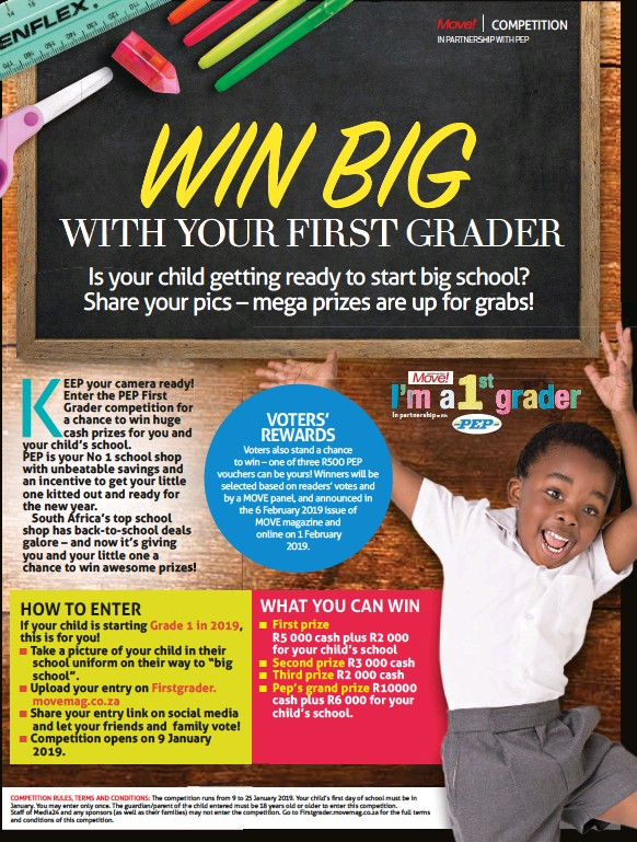 PressReader - Move!: 2019-01-02 - WIN BIG WITH YOUR FIRST GRADER