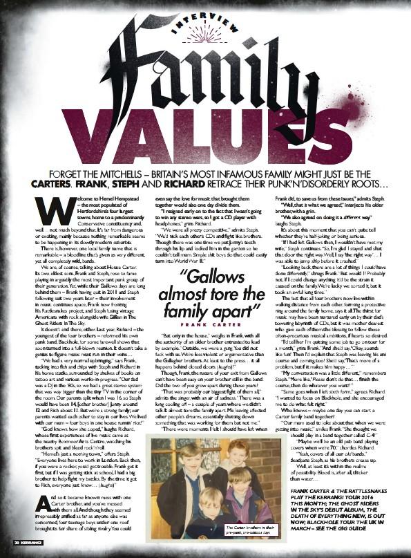 PressReader - Kerrang! (UK): 2016-02-03 - Family VALUES
