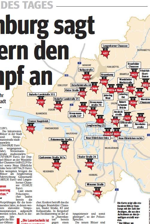Blitzer Karte.Pressreader Hamburger Morgenpost 2017 05 31 Blitzer
