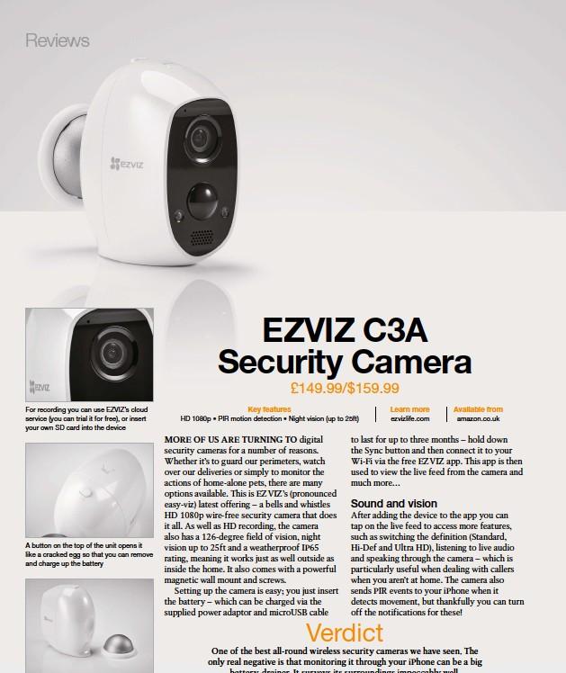 PressReader - iCreate: 2019-06-20 - EZVIZ C3A Security Camera