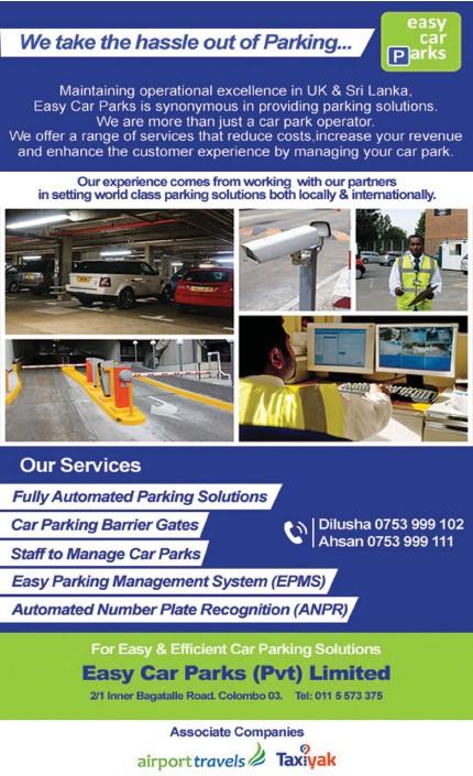 PressReader - Sunday Times (Sri Lanka): 2018-09-02 - Easy Car Parks