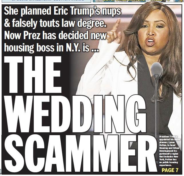 Trump Wedding Planner.Pressreader New York Daily News 2017 06 16 The Wedding