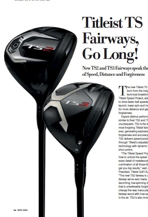 PressReader - Golf Asia: 2018-11-01 - Titleist TS Fairways