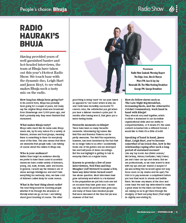 PressReader - New Zealand Marketing: 2018-06-22 - RADIO