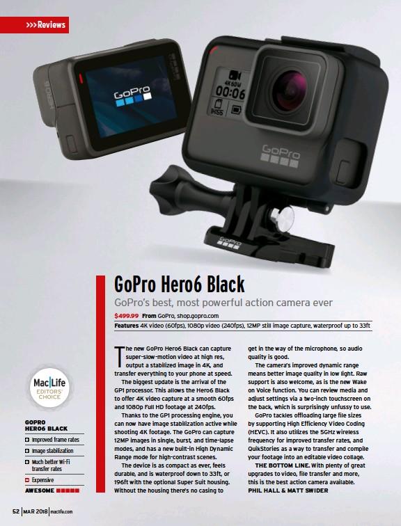 PressReader - Mac|Life: 2018-02-06 - GoPro Hero 6 Black