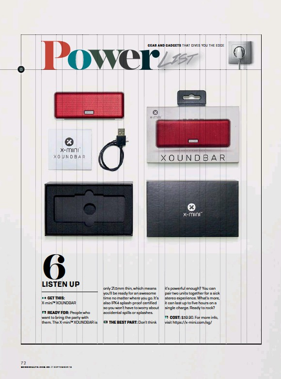 PressReader - Men's Health (Singapore): 2018-09-01 - Power list