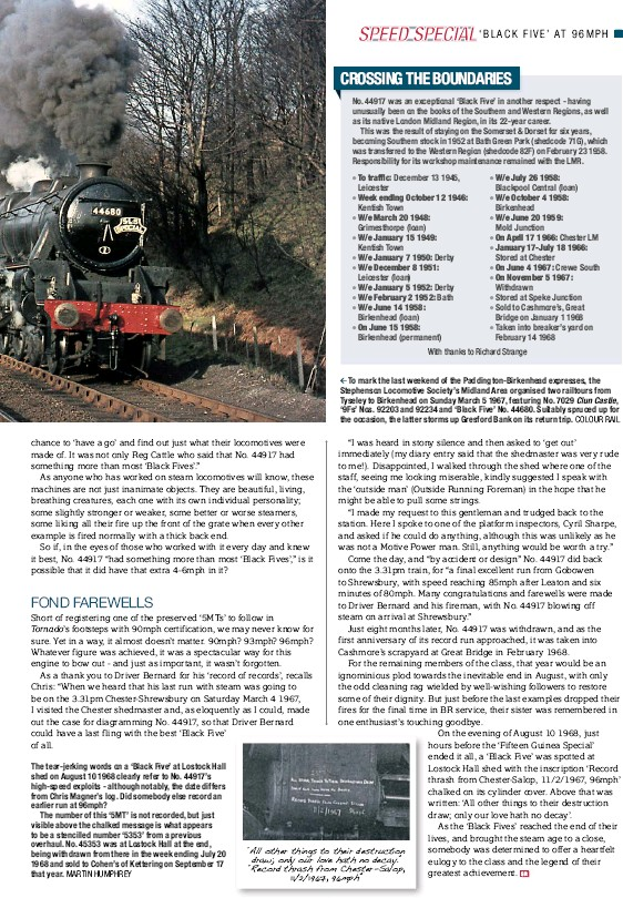 PressReader - Steam Railway (UK): 2017-04-21 - 96mph WITH A