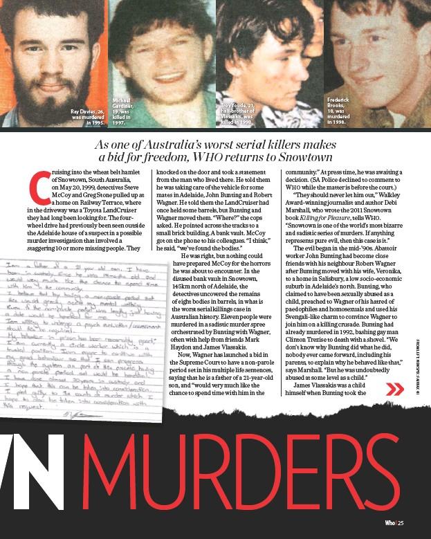 PressReader - WHO: 2019-04-08 - SNOWTOWN MURDERS