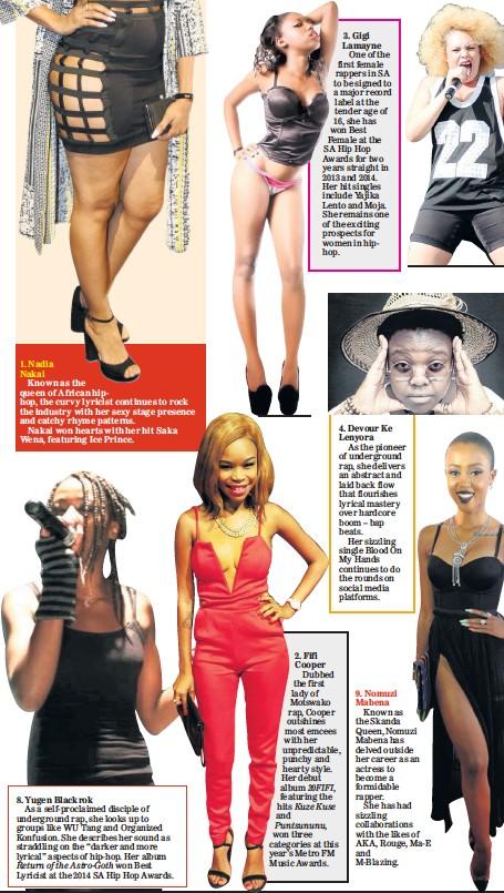 PressReader - Sunday World: 2016-08-14 - Mzansi's hottest feMCs