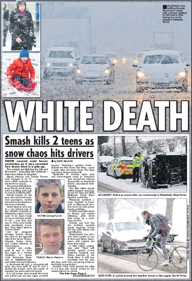 PressReader - Daily Star: 2018-03-09 - SNOW HELL BITES BACK