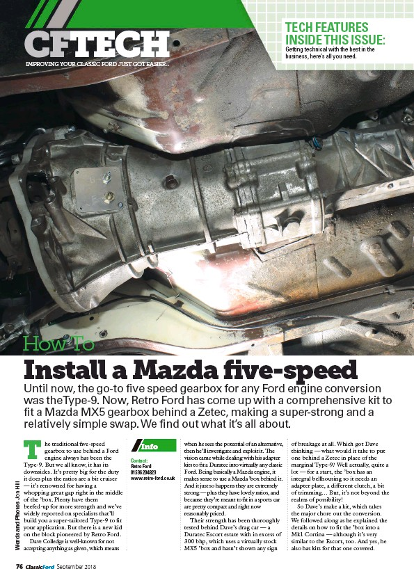 PressReader - Classic Ford: 2018-09-01 - HOW TO: Install a Mazda