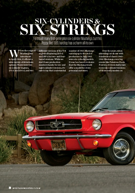 PressReader - Mustang Monthly: 2019-05-01 - Six-Cylinders & Six-Strings