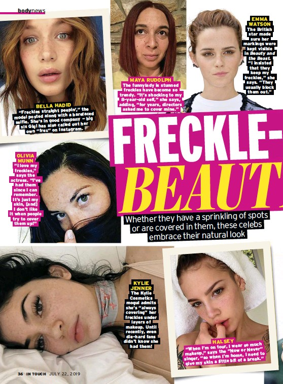 PressReader - In Touch (USA): 2019-07-22 - FAB AND FRECKLED