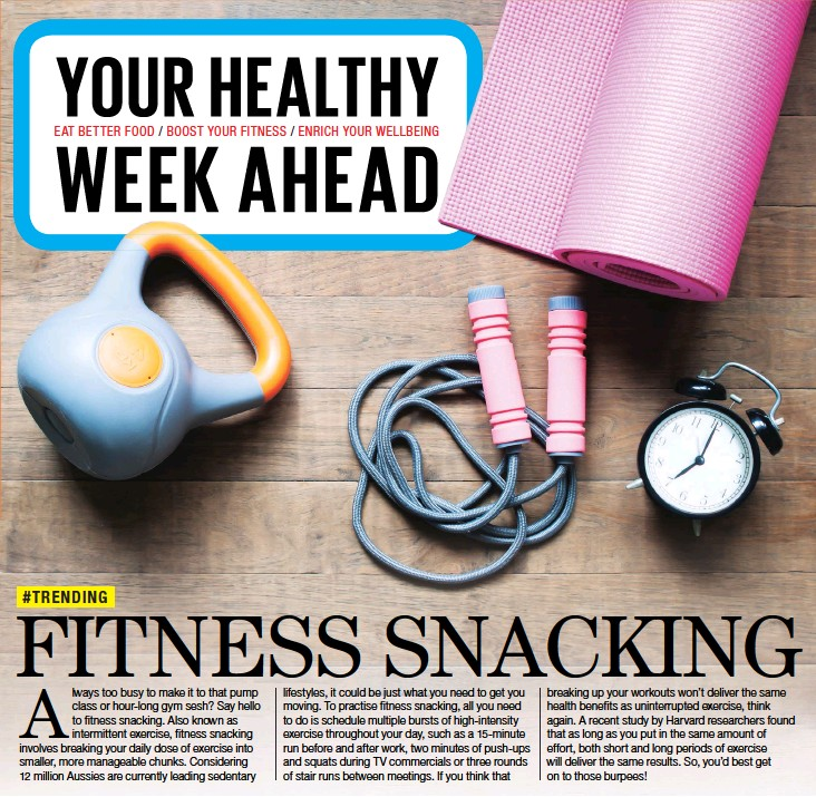 PressReader - The Sunday Times: 2018-11-11 - FITNESS SNACKING