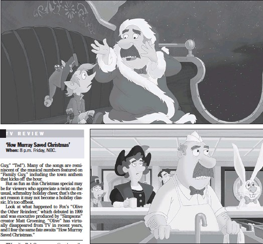 How Murray Saved Christmas.Pressreader Pittsburgh Post Gazette 2014 12 04 Murray