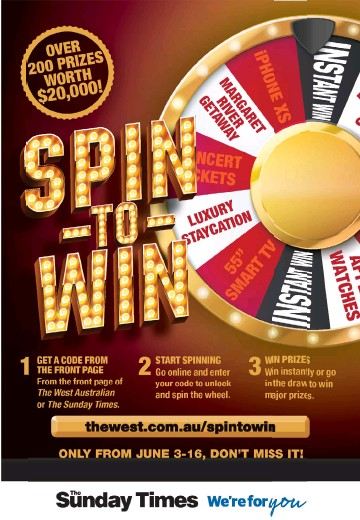 PressReader - The Sunday Times: 2019-06-09 - SPIN-TO-WIN