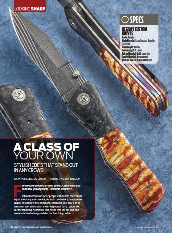PressReader - Knives Illustrated: 2018-12-01 - A CLASS OF