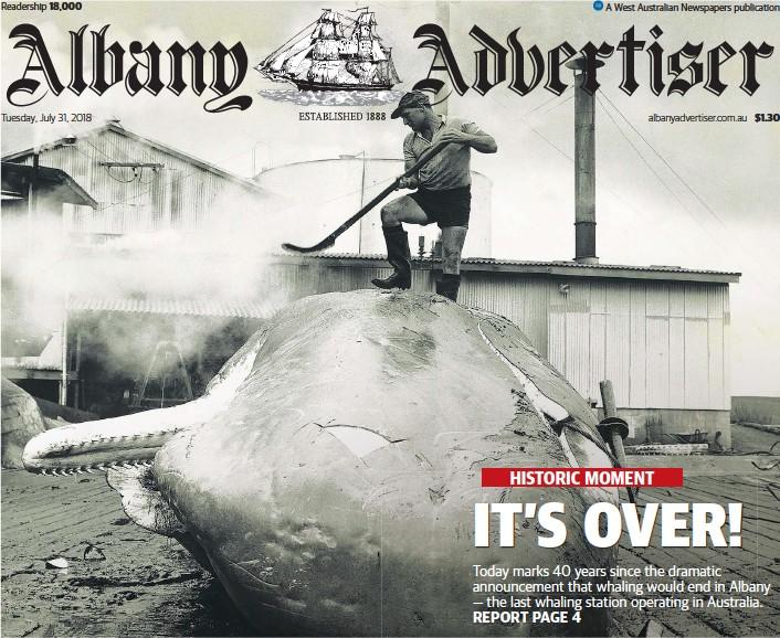 PressReader - Albany Advertiser: 2018-07-31 - IT'S OVER!