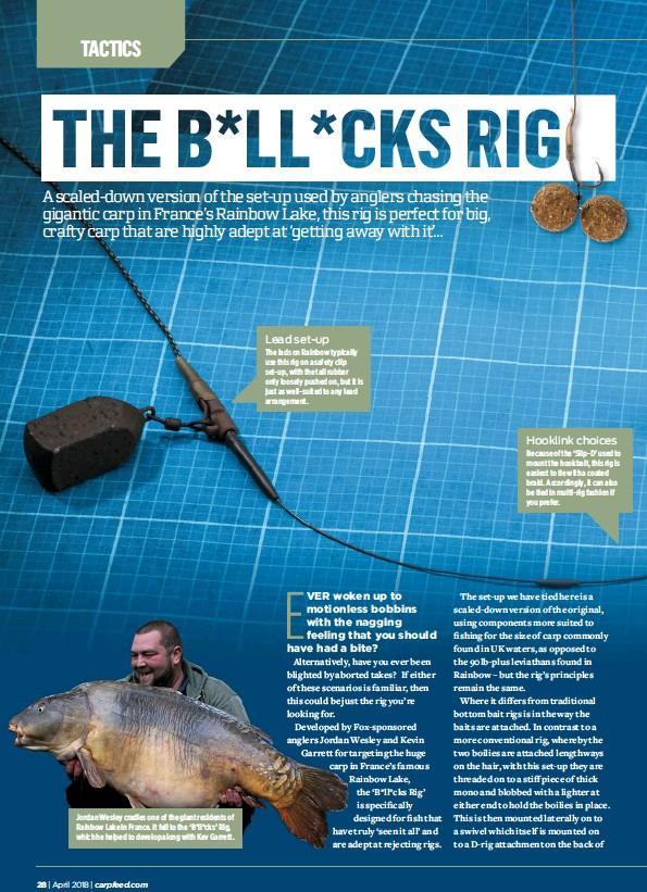 PressReader - Angling Times (UK): 2018-04-03 - THE B*LL*CKS RIG