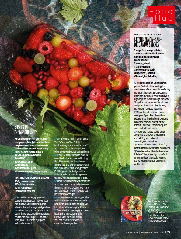 PressReader - Women's Health (South Africa): 2018-08-01 - berries in