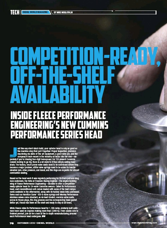 PressReader - Diesel World: 2019-10-01 - COMPETITION-READY