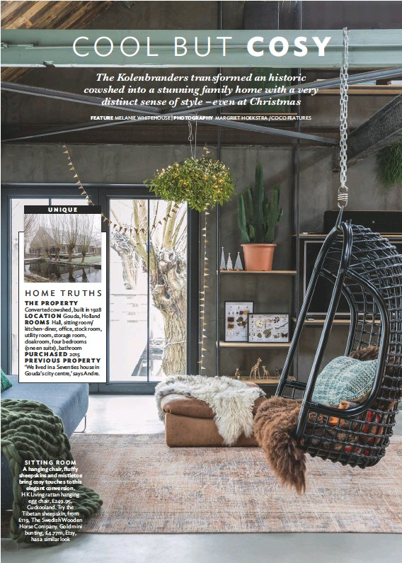 Hk Living Egg Chair.Pressreader 25 Beautiful Homes 2018 12 01 Cool But Cosy