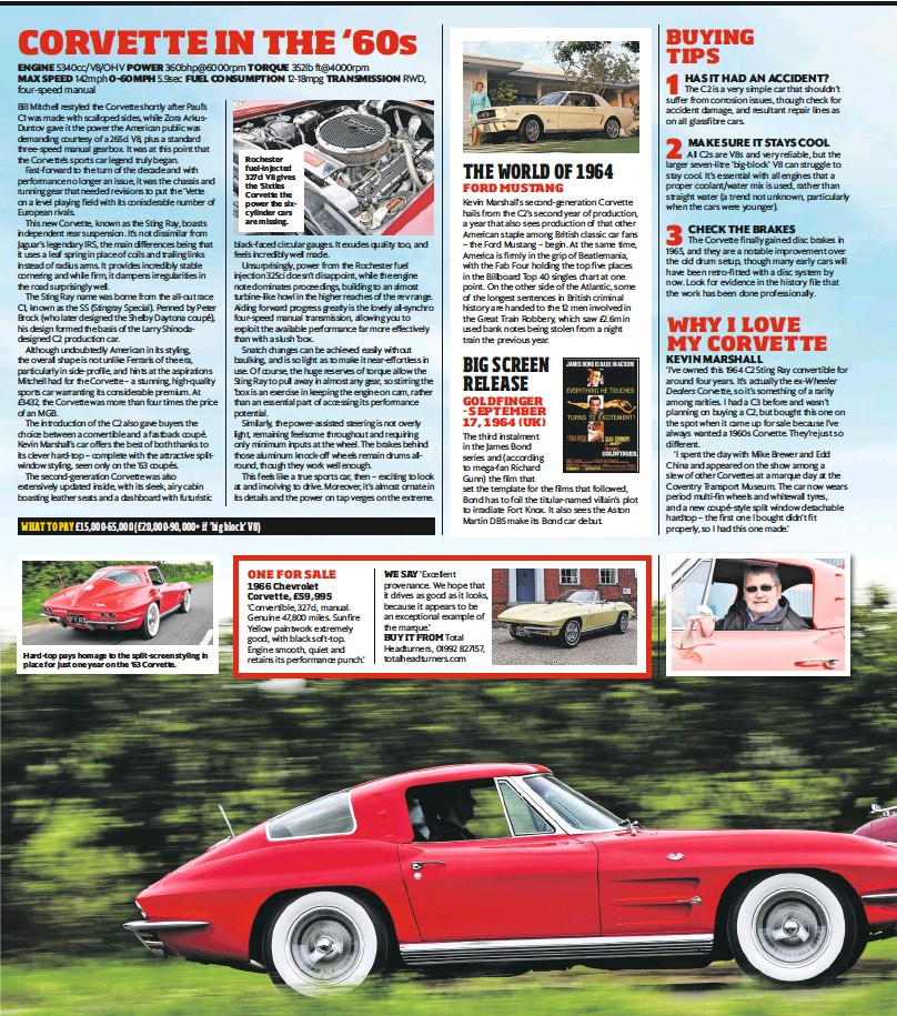 PressReader - Classic Car Weekly (UK): 2018-06-27 - CORVETTE IN THE '60s