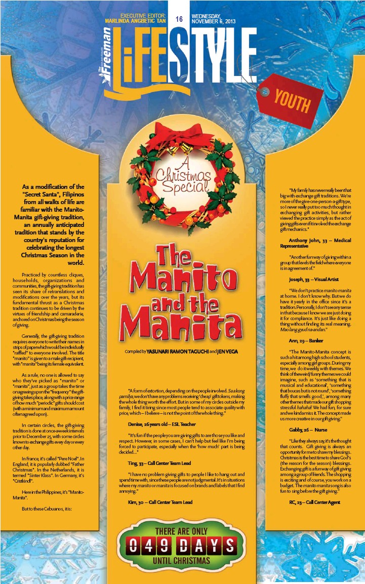 PressReader - The Freeman: 2013-11-06 - The Manito and the