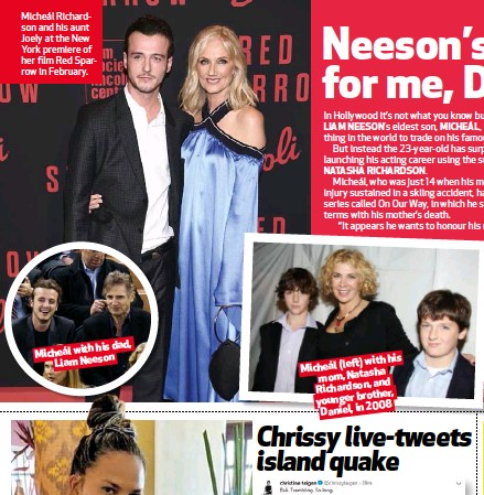 PressReader - YOU (South Africa): 2018-08-16 - Neeson's not for me, Dad!