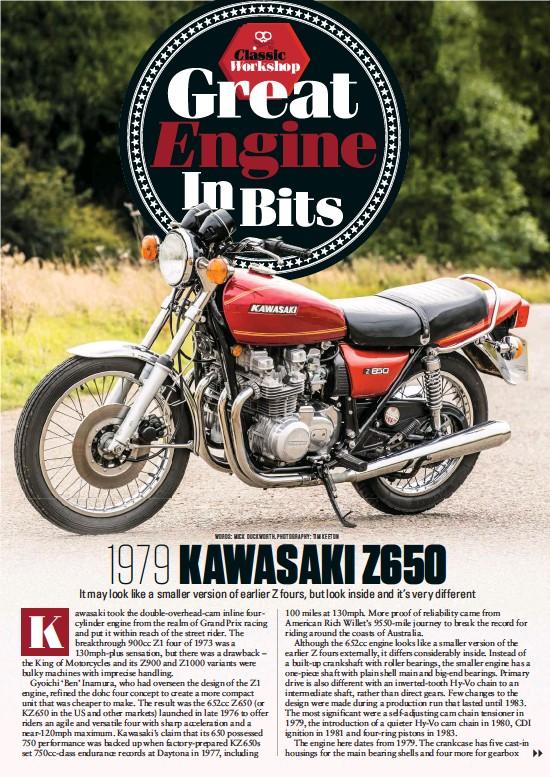 PressReader - Classic Bike (UK): 2018-10-01 - Z650 ENGINE STRIP