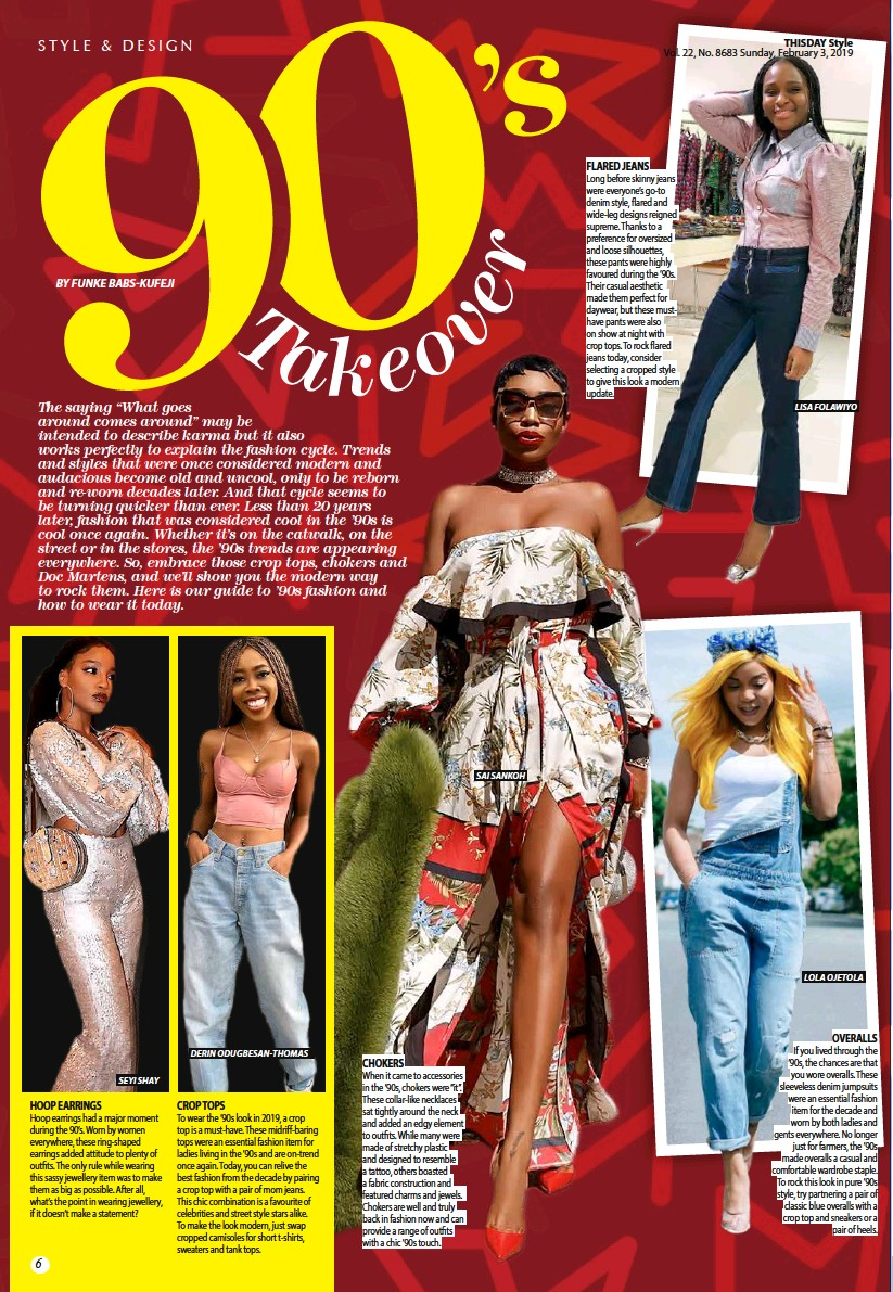 PressReader - THISDAY Style: 2019-02-03 - 90'S TAKEOVER