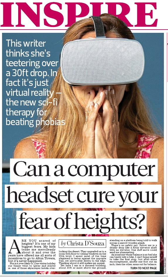 PressReader - Daily Mail: 2018-10-15 - Can a computer headset cure