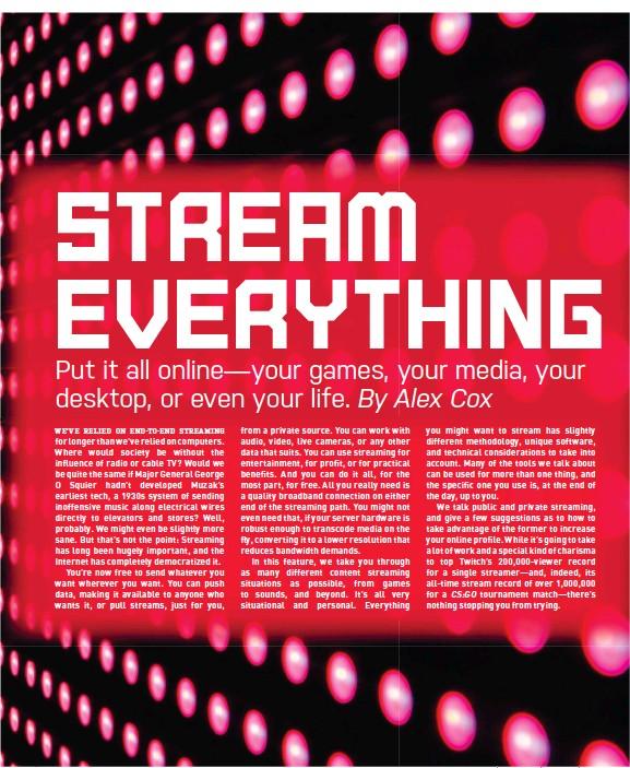 PressReader - Maximum PC: 2017-08-22 - STREAM EVERYTHING