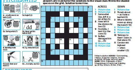 Crossword Puzzle Answers For Today Daily Mail | crossword quiz