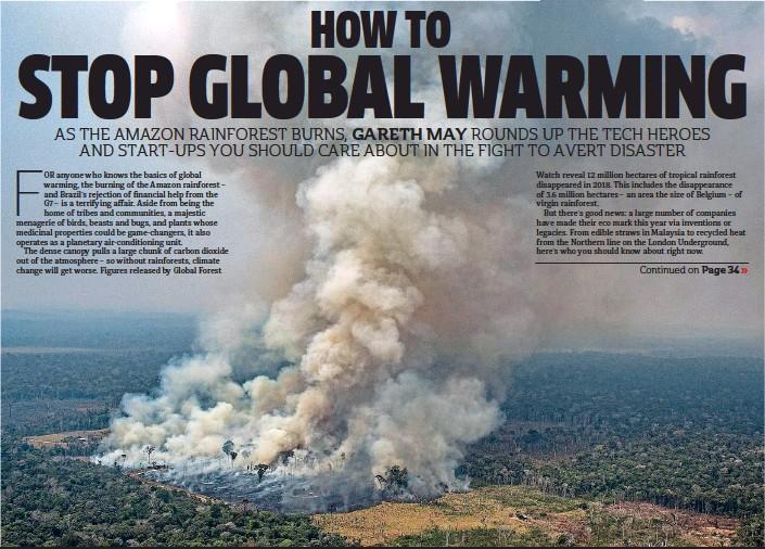 PressReader - Metro (UK): 2019-08-30 - HOW TO STOP GLOBAL
