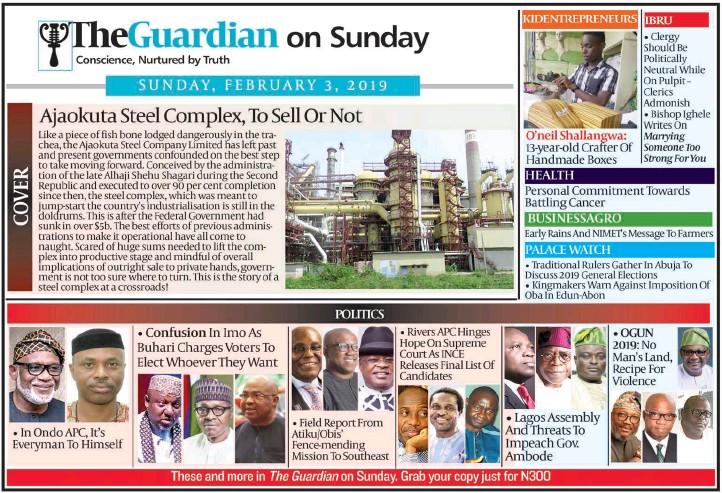 PressReader - The Guardian (Nigeria): 2019-02-02 - Ogun Police