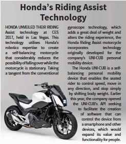 pressreader - bike india: 2017-02-10 - honda's riding assist