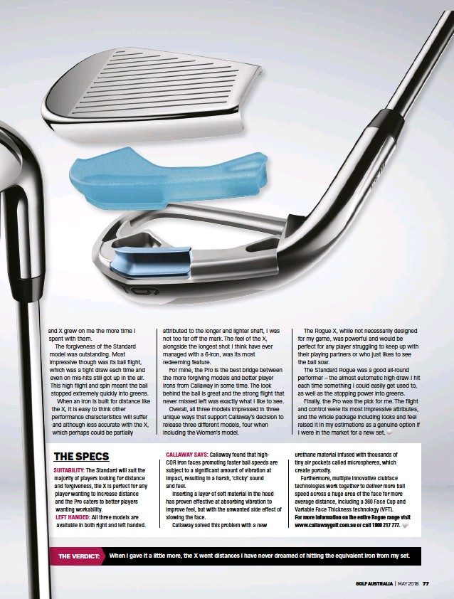 PressReader - Golf Australia: 2018-05-01 - PLAYING WITH … CALLAWAY