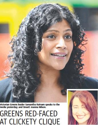 PressReader - Herald Sun: 2018-11-02 - GREENS RED-FACED AT CLICKETY