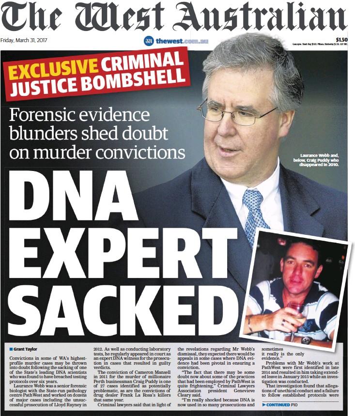 PressReader - The West Australian: 2017-03-31 - DNA EXPERT