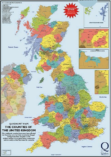 Map Of Just England.Pressreader This England 2019 02 06 The True Historic Counties