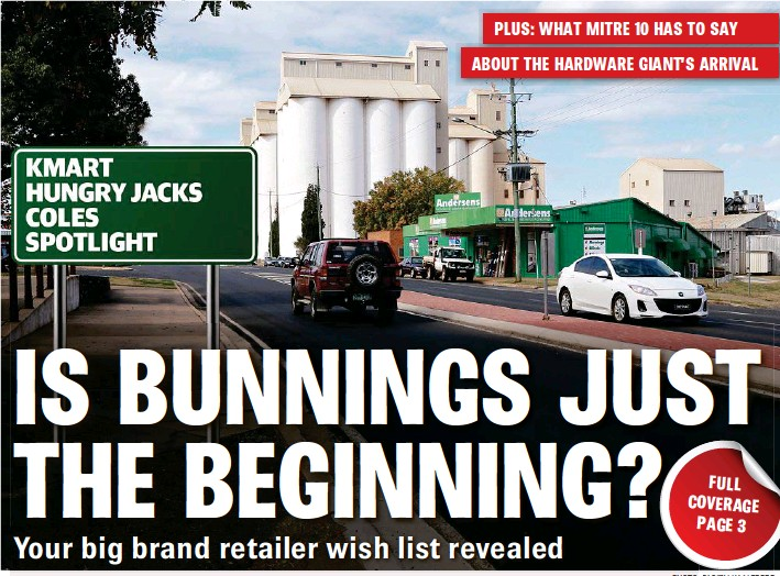 PressReader - South Burnett Times: 2018-08-10 - IS BUNNINGS JUST THE