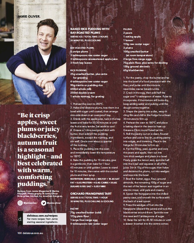 PressReader - delicious: 2018-04-01 - Jamie Oliver