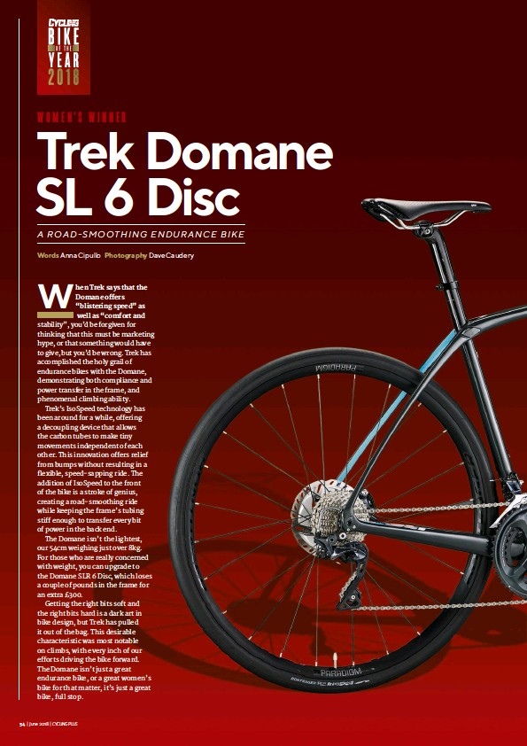 PressReader - Cycling Plus: 2018-04-19 - Trek Domane SL 6 Disc