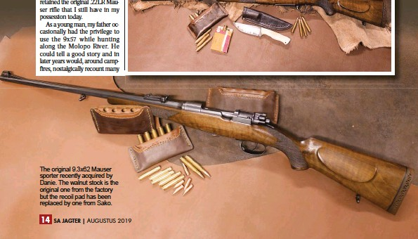 PressReader - SA Jagter Hunter: 2019-08-01 - A MAUSER LOST, A MAUSER