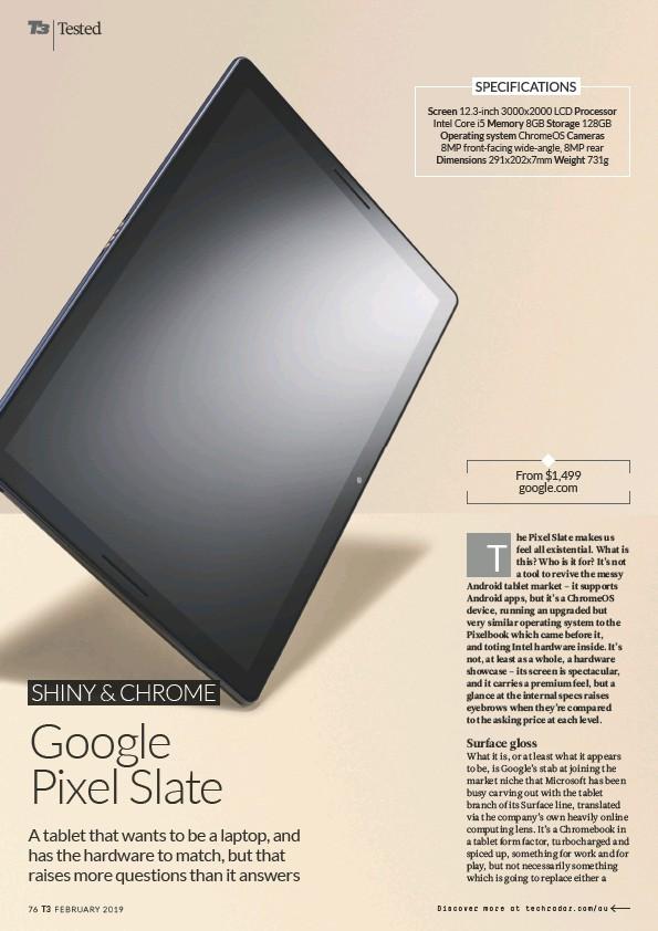 PressReader - Australian T3: 2019-04-08 - Google Pixel Slate
