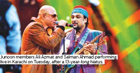 PressReader - Gulf News: 2018-12-27 - 'Junoon' reunion gig