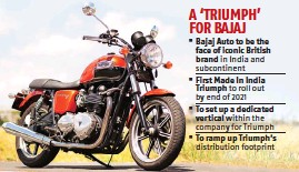 PressReader - Business Standard: 2019-07-01 - Bajaj, Triumph saddle