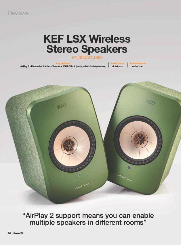 PressReader - iCreate: 2019-05-23 - KEF lsx Wireless stereo
